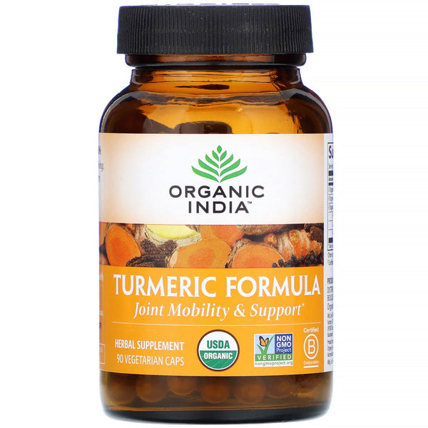 Organic India, Turmeric Formula, Joint Mobility & Support, 90 Vegetarian Caps - The Supplement Shop
