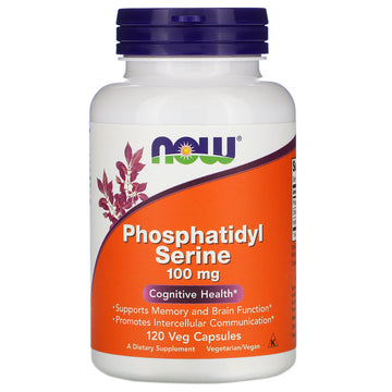 Now Foods, Phosphatidyl Serine, 100 mg, 120 Veg Capsules