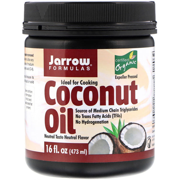 Jarrow Formulas, Organic Coconut Oil, Expeller Pressed, 16 fl oz (473 g) - The Supplement Shop