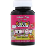 Nature's Plus, Source of Life, Animal Parade, Children's Chewable Inner Ear Support, Natural Cherry Flavor, 90 Animals-Shaped Tablets