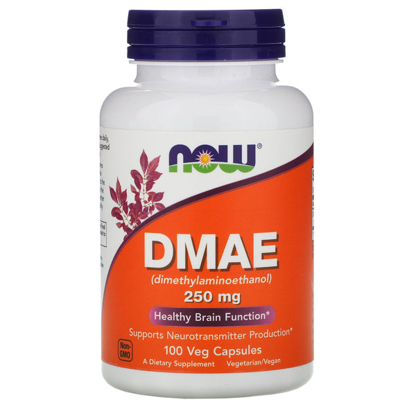 Now Foods, DMAE, 250 mg, 100 Veg Capsules - The Supplement Shop