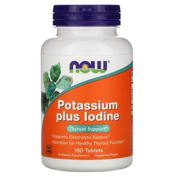 NOW Now Foods, Potassium Plus Iodine, 180 Tablets