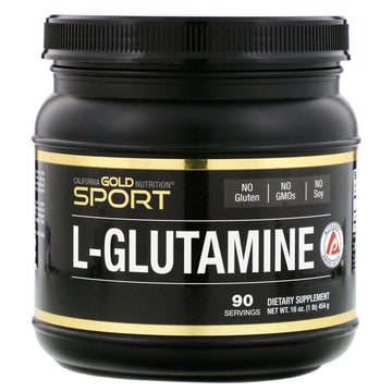 California Gold Nutrition, L-Glutamine Powder, AjiPure, Gluten Free, 16 oz (454 g)
