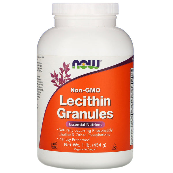 Now Foods, Lecithin Granules, Non-GMO, 1 lb (454 g) - The Supplement Shop