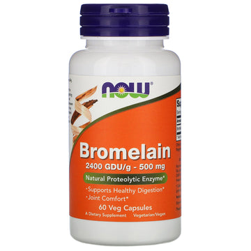 Now Foods, Bromelain, 500 mg, 60 Veg Capsules