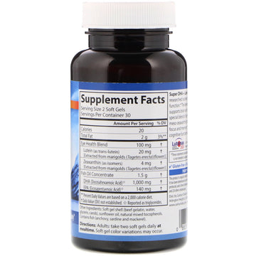 Carlson Labs, Super DHA Plus Lutein, 60 Softgels