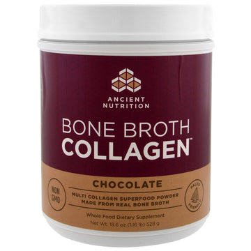 Dr. Axe / Ancient Nutrition, Bone Broth Collagen, Chocolate, 1.16 lbs (528 g)
