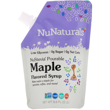 NuNaturals, NuStevia, Pourable Maple Flavor Syrup, 6.6 fl oz (.2 l)