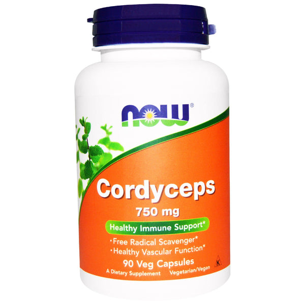 Now Foods, Cordyceps, 750 mg, 90 Veg Capsules - The Supplement Shop
