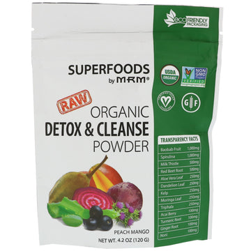 MRM, Organic Detox & Cleanse Powder, Peach Mango, 4.2 oz (120 g)