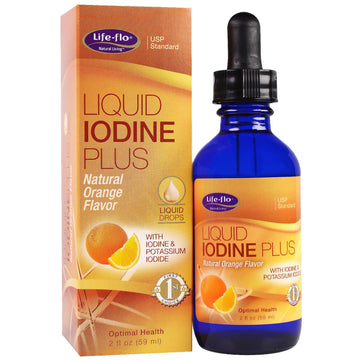 Life-flo, Liquid Iodine Plus, Natural Orange Flavor, 2 fl oz (59 ml)
