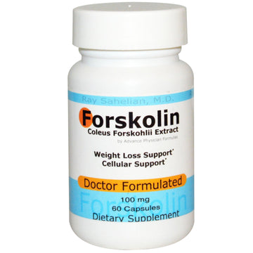 Advance Physician Formulas, Forskolin, Coleus Forskohlii Extract, 100 mg, 60 Capsules