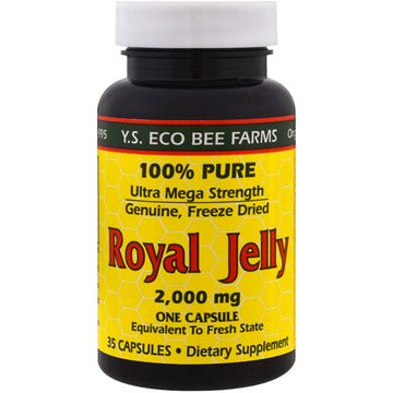Y.S. Eco Bee Farms, Royal Jelly, 2,000 mg , 35 Capsules