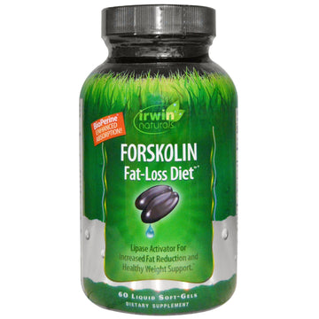 Irwin Naturals, Forskolin, Fat-Loss Diet, 60 Liquid Soft-Gels