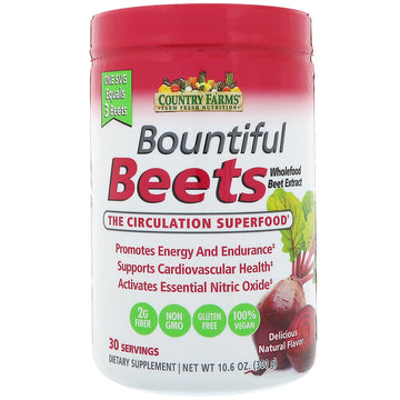 Country Farms, Bountiful Beets, The Circulation Superfood, Delicious Natural Flavor, 10.6 oz (300 g)