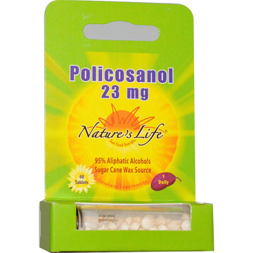 Nature's Life, Policosanol, 23 mg, 60 Tablets