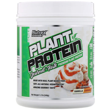 Nutrex Research, Natural Series, Plant Protein, Vanilla Caramel, 1.2 lb (540 g)