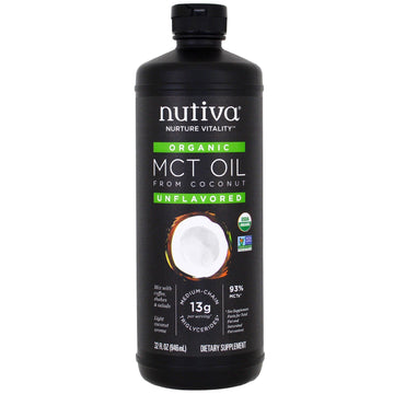 Nutiva, Organic MCT Oil From Coconut, Unflavored, 32 fl oz (946 ml)