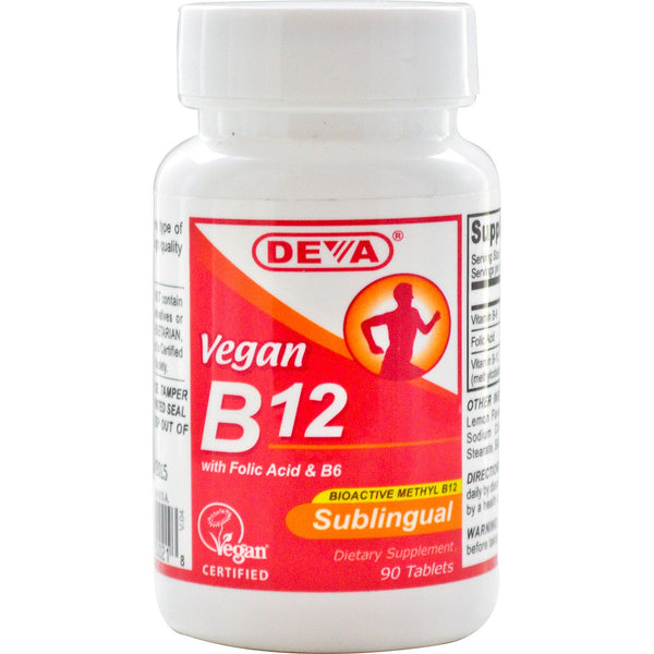 Deva, Vegan, B12, Sublingual, 90 Tablets