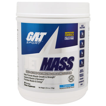GAT, Sport, JetMass, Volumizing Creatine System, Tropical Ice, 1.58 lbs (720 g)