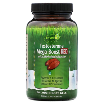 Irwin Naturals, Testosterone Mega-Boost RED, 68 Liquid Soft-Gels