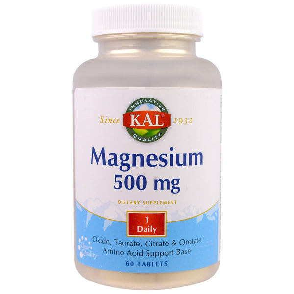 KAL, Magnesium, 500 mg, 60 Tablets