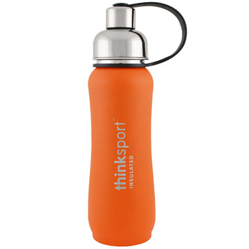 Think, Thinksport, Insulated Sports Bottle, Orange, 17 oz (500ml)