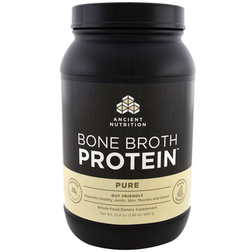 Dr. Axe / Ancient Nutrition, Bone Broth Protein, Pure, 1.96 lbs (890 g)