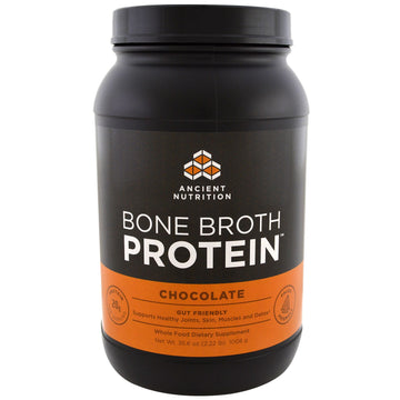 Dr. Axe / Ancient Nutrition, Bone Broth Protein, Chocolate, 2.22 lbs (1008 g)