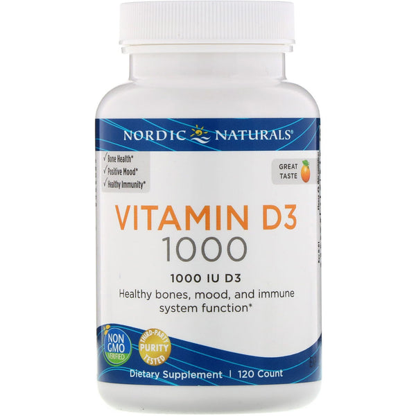 Nordic Naturals, Vitamin D3, Orange, 1,000 IU, 120 Count