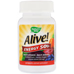 Nature's Way, Alive! Energy 50+, Multivitamin-Multimineral, For Adults 50+, 60 Tablets
