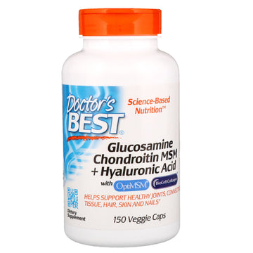 Doctor's Best, Glucosamine Chondroitin MSM + Hyaluronic Acid, 150 Veggie Caps