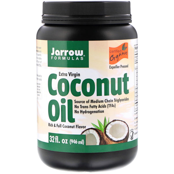 Jarrow Formulas, Organic Extra Virgin Coconut Oil, Expeller Pressed, 32 fl oz (946 ml) - The Supplement Shop