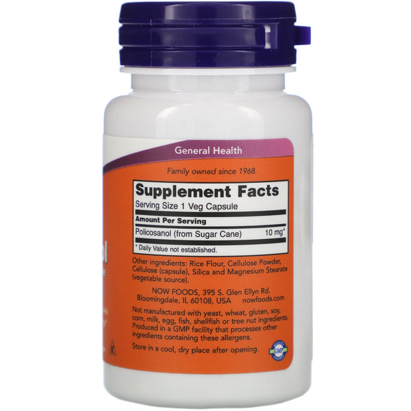 Now Foods, Policosanol, 10 mg, 90 Veg Capsules