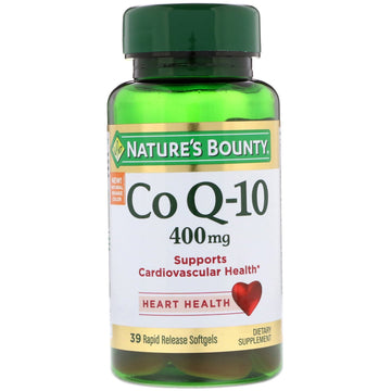 Nature's Bounty, Co Q-10, 400 mg, 39 Rapid Release Softgels