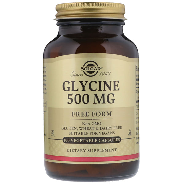Solgar, Glycine, 500 mg, 100 Vegetable Capsules - The Supplement Shop