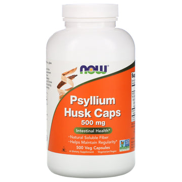 Now Foods, Psyllium Husk Caps, 500 mg, 500 Veg Capsules