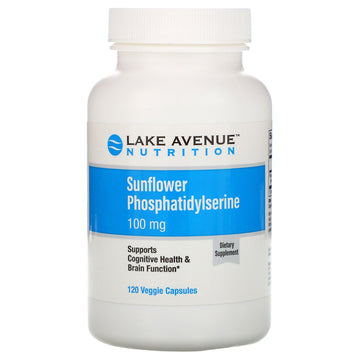 Lake Avenue Nutrition, Sunflower Phosphatidylserine, 100 mg, 120 Veggie Capsules