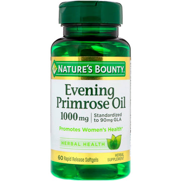 Nature's Bounty, Evening Primrose Oil, 1,000 mg, 60 Rapid Release Softgels