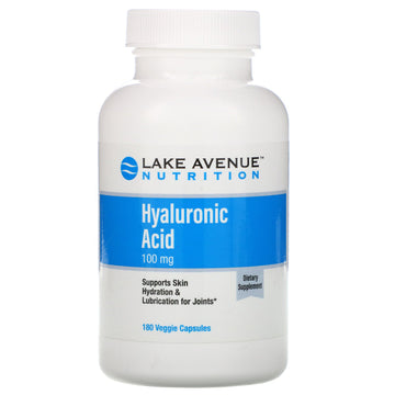 Lake Avenue Nutrition, Hyaluronic Acid, 100 mg, 180 Veggie Capsules