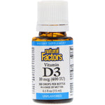Natural Factors, Vitamin D3 Drops, Unflavored, 10 mcg (400 IU), 0.5 fl oz (15 ml)