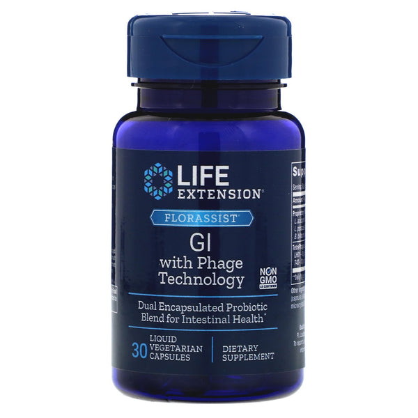 Life Extension, FLORASSIST GI with Phage Technology, 30 Liquid Vegetarian Capsules