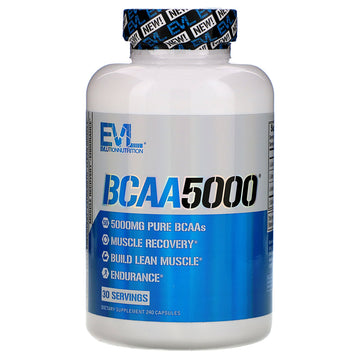 EVLution Nutrition, BCAA5000, 240 Capsules