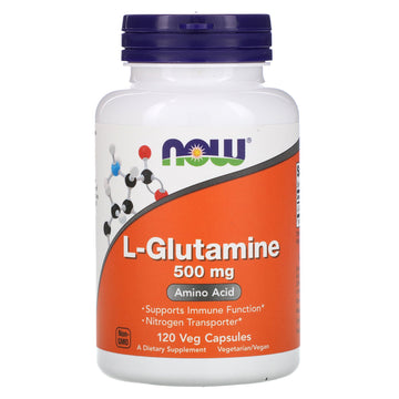 Now Foods, L-Glutamine, 500 mg, 120 Veg Capsules