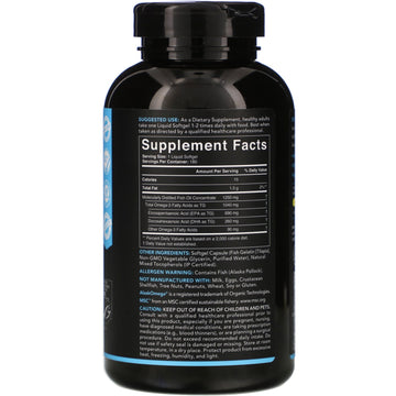 Sports Research, Omega-3 Fish Oil, Triple Strength, 1,250 mg, 180 Softgels