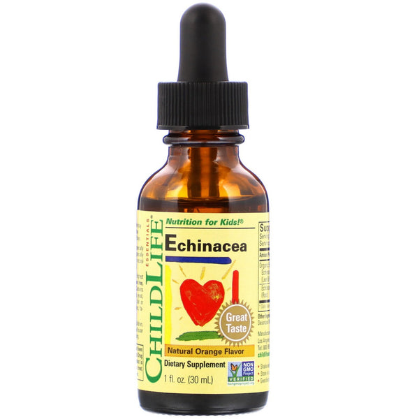 ChildLife, Essentials, Echinacea, Natural Orange Flavor, 1 fl oz (30 ml)