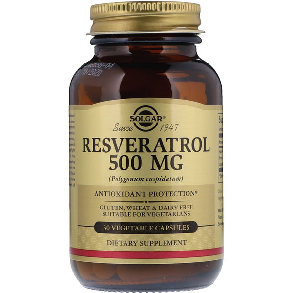 Solgar, Resveratrol, 500 mg, 30 Vegetable Capsules - The Supplement Shop