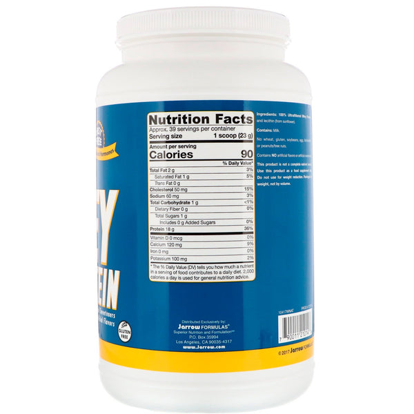 Jarrow Formulas, Whey Protein, Unflavored, 2 lbs (908 g)