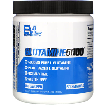 EVLution Nutrition, Glutamine5000, Unflavored, 5,000 mg, 10.58 oz (300 g)