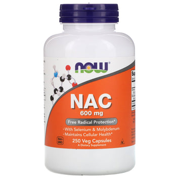 Now Foods, NAC, 600 mg, 250 Veg Capsules
